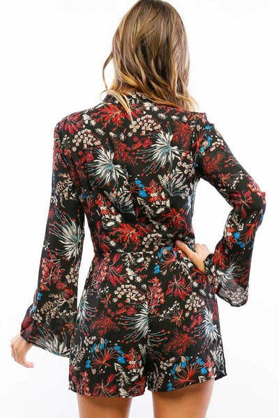 Into A Gaze Floral Romper