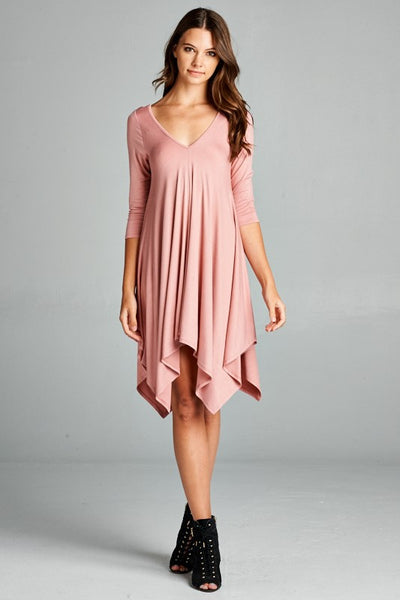 Cassie Swing Dress - Blush