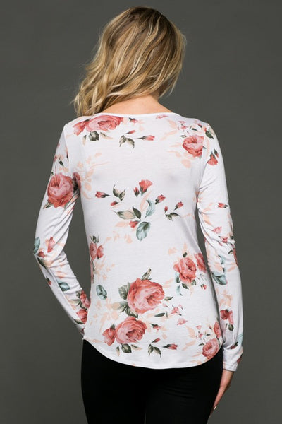On A Date Floral Strappy Top - Peach