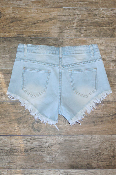 Anja Distressed High Waist Shorts