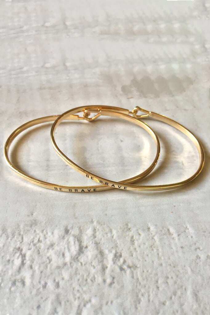 Be Brave Bangle Bracelet - Gold