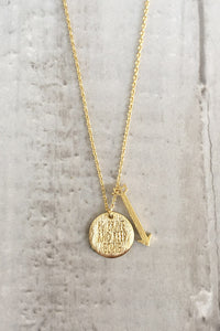 Be Brave And Keep Going Necklace - Gold