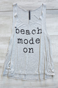 Beach Mode On Tank Top - Gray