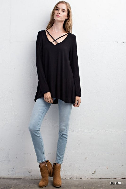 Better With It Strappy Top - Black