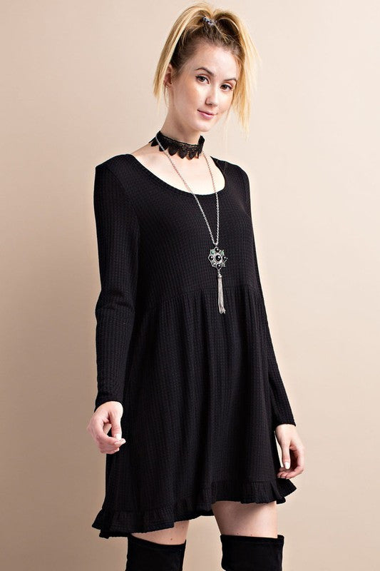 Thinking of You Babydoll Dress - Black