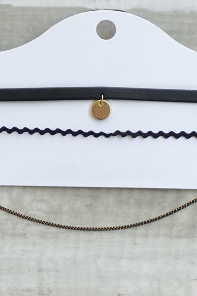 Maya Layered Choker Set - Gold