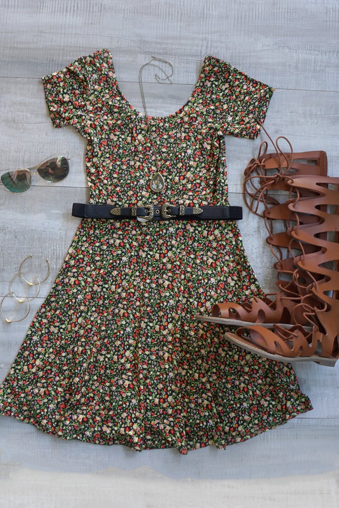 Foreigner Ditsy Floral Dress