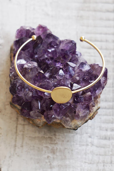 Enchanted Open Bangle Bracelet - Gold