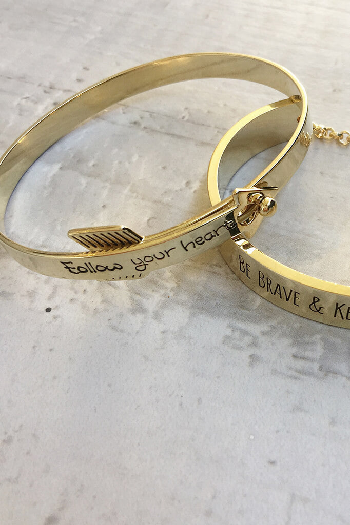 Follow Your Heart Bracelet - Gold