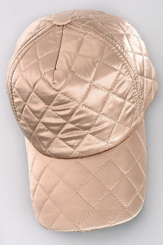 Bella Metallic Baseball Hat - Gold