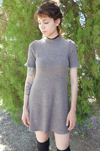 Acquainted Knit Dress - Gray
