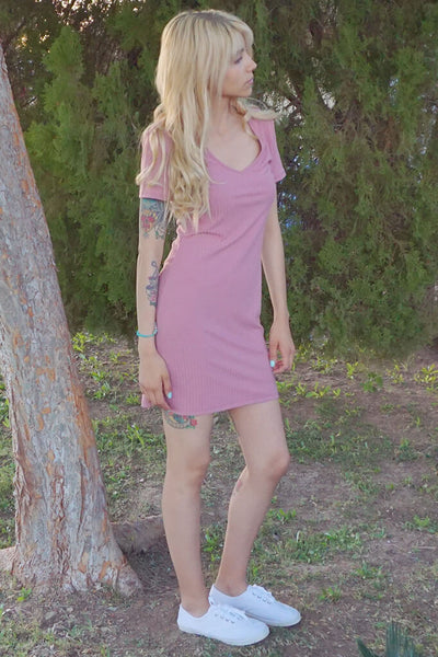 Heather Bodycon Dress - Blush
