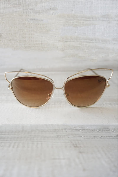 Isla Reflective Sunglasses - Brown