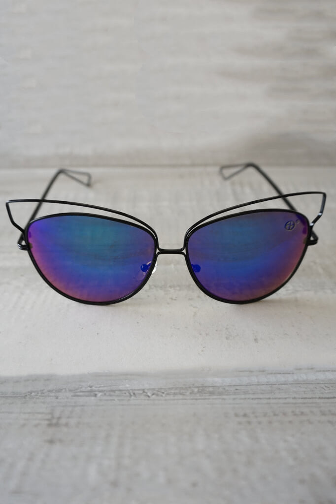 Isla Reflective Sunglasses - Blue