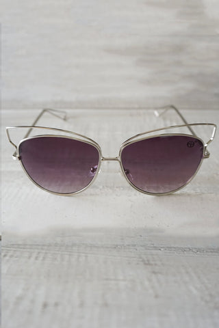 Isla Reflective Sunnies - Purple