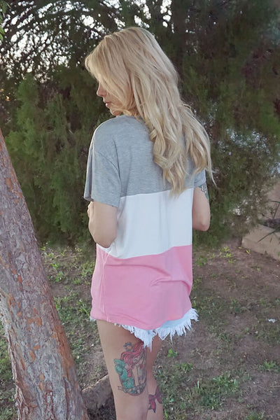 It's Her Pocket Tee - Blush