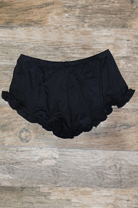 Sunny Out Ruffle Shorts - Black