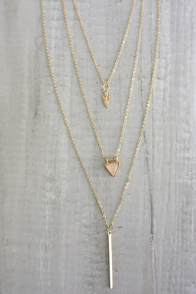 Kayla Layered Necklace - Gold