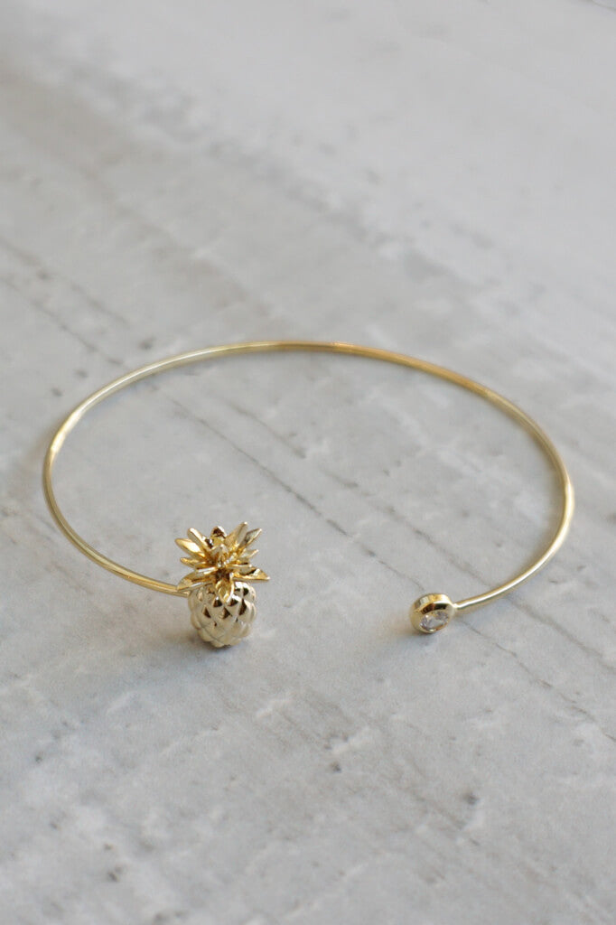 Pineapple Bracelet - Gold
