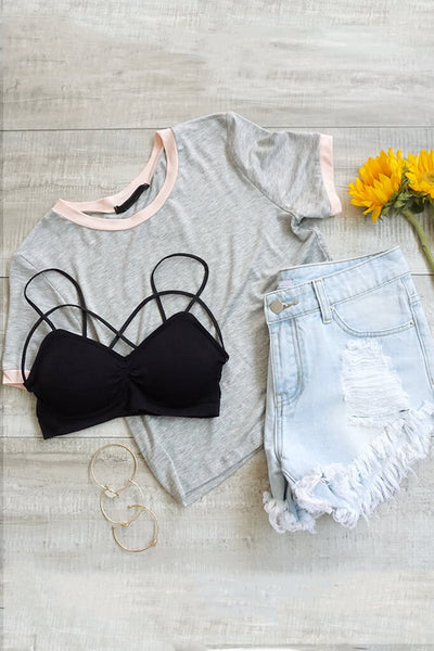 Got it Going Crop Top - Gray