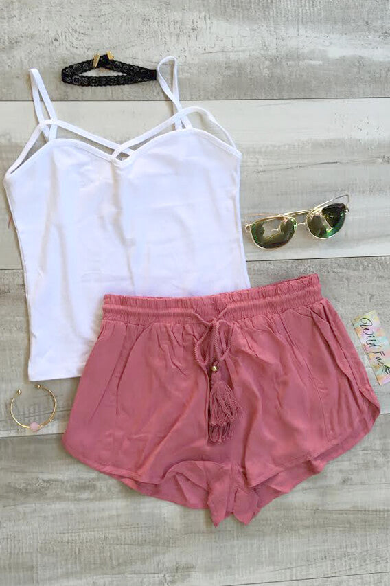 Berry Berry Shorts - Blush