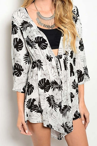 On the Line Plunging Romper - White