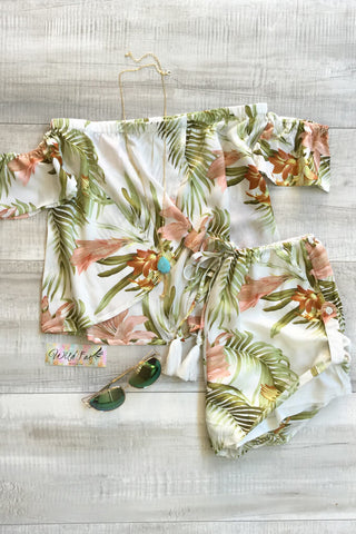 Sirena Tropical High Waisted Shorts