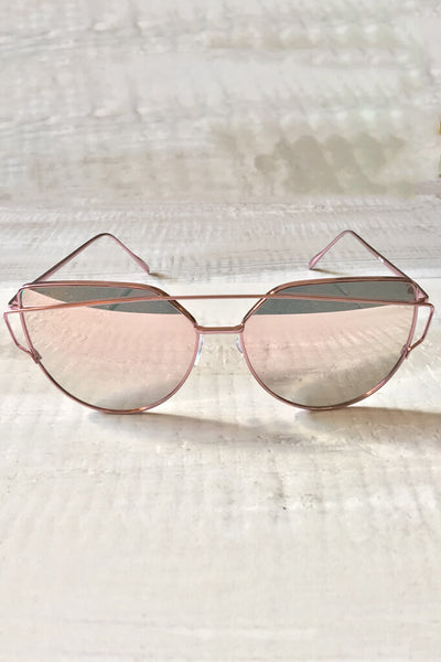 Wildling Reflective Sunglasses - Rose