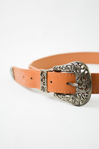 Double Buckle Belt - Camel