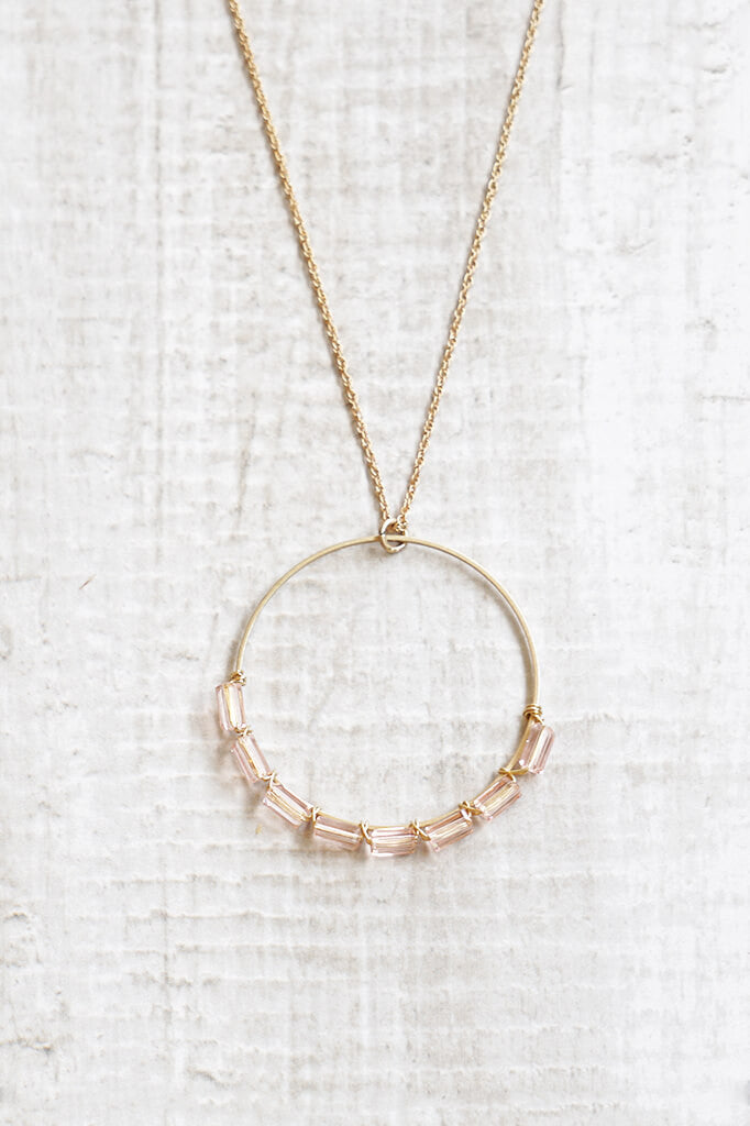 Never Ending Circle Necklace - Rose