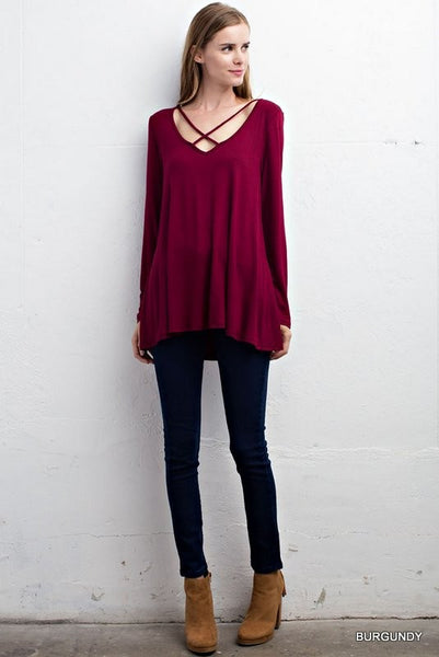 Better With It Strappy Top - Burgundy