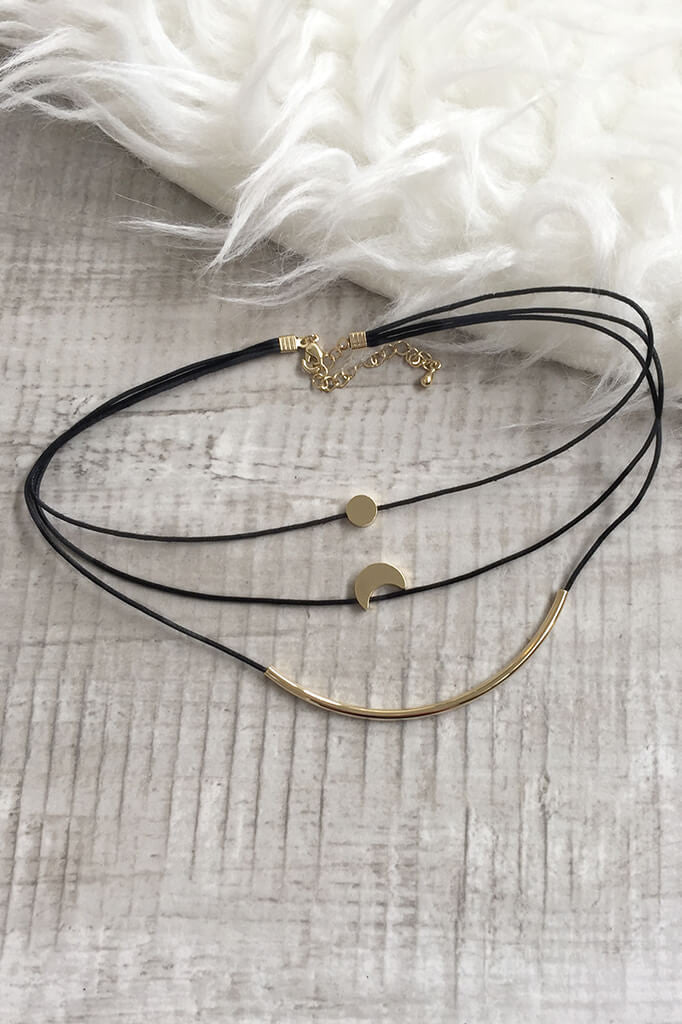Moon Charm Choker Set