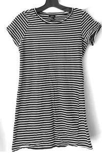 Love Line Striped Dress - Black