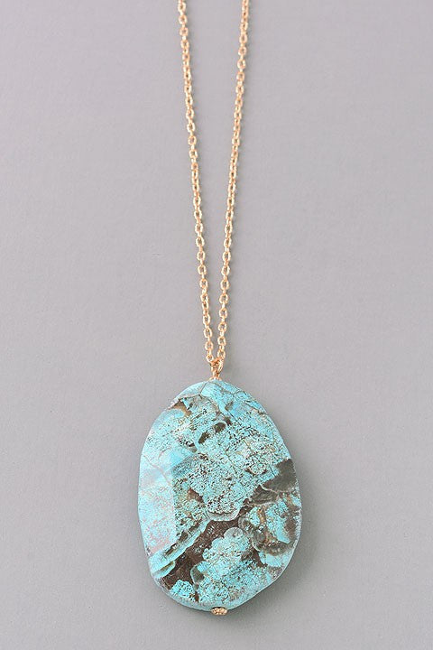 Earth stone necklace - Turquoise