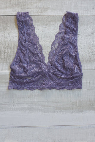 Divina Lace Bralette - Faded Purple