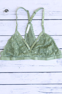 Starry Strappy Bralette - Light Green