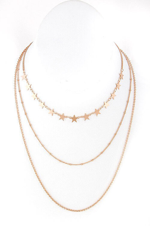 Stars Layered Choker Necklace