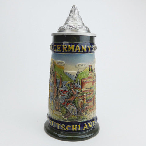S4225 German Deutschland Beer Stein with Lid
