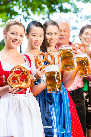 Oktoberfest party at home with Family