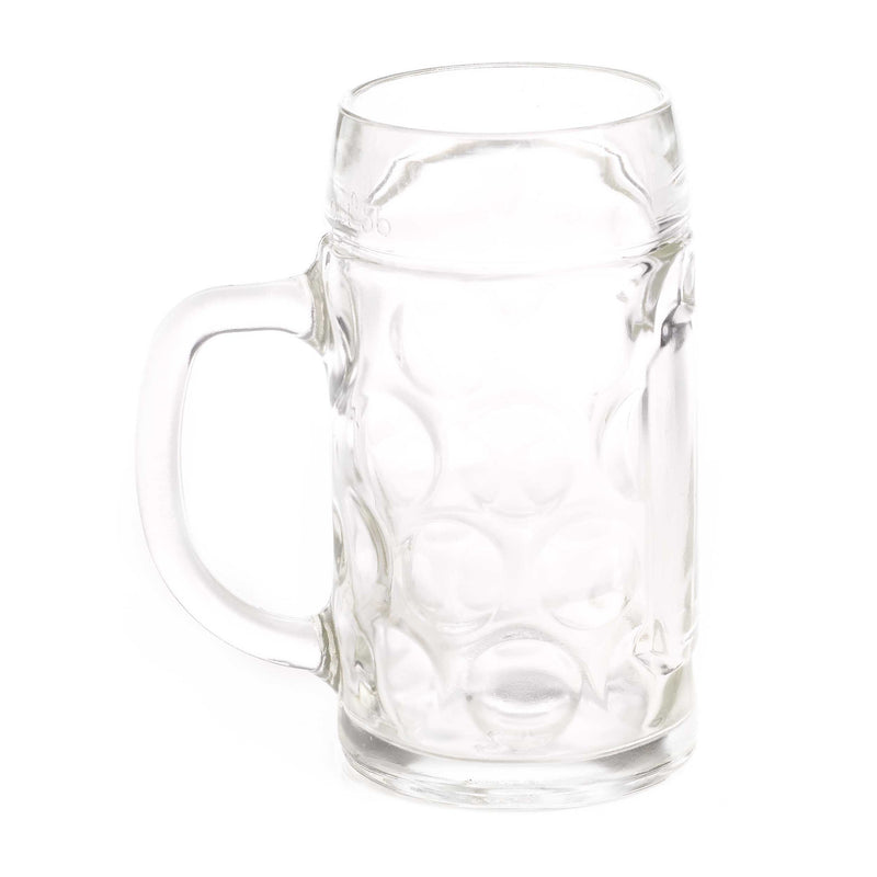 Stolzle 1/2 Liter Dimpled Glass Beer Stein - $10 - $20, Beer Mugs, Beer Steins-Glassware, Clear, Clocks-Wall, Collectibles, Glass, Home & Garden - 2