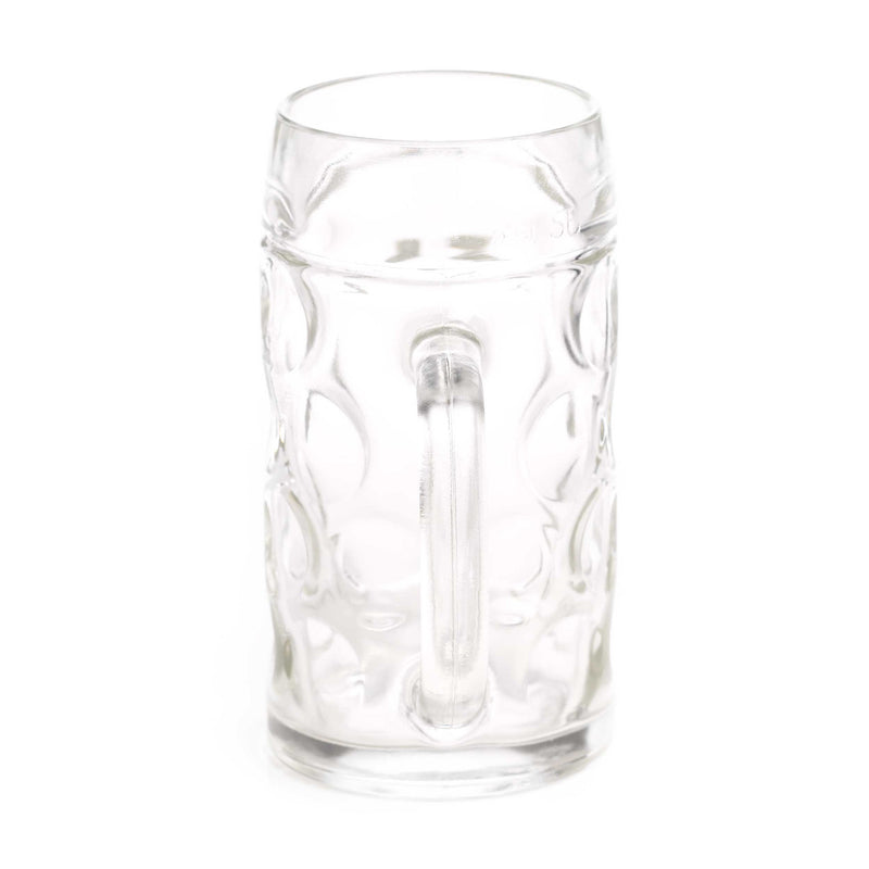 Stolzle 1/2 Liter Dimpled Glass Beer Stein - $10 - $20, Beer Mugs, Beer Steins-Glassware, Clear, Clocks-Wall, Collectibles, Glass, Home & Garden - 2 - 3