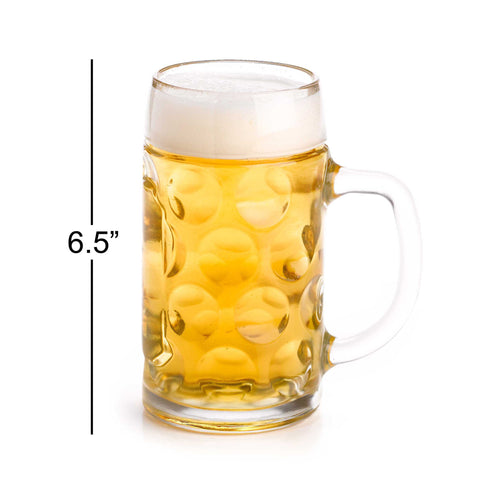 stolzle 12 liter dimpled glass beer stein - Glass Beer Mugs