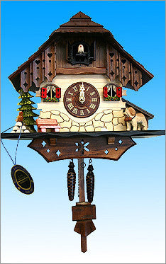 Black Forest Tall Chalet Cuckoo Clock