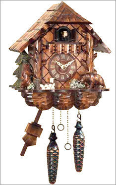 Black Forest Chalet Cuckoo Clock with Carved Bears