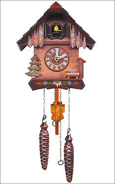 Black Forest German Battery Operated Cuckoo Clock with 12 Tunes