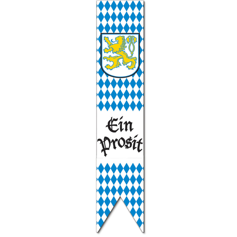 Blue and White Jointed Oktoberfest Pull-Down Cutout 6' - 6-Feet, Hanging Decorations, Oktoberfest, PS- Oktoberfest Decorations, PS- Oktoberfest Essentials-All OKT Items, PS- Oktoberfest Hanging Decor, PS- Oktoberfest Table Decor, PS-Party Supplies, Tableware