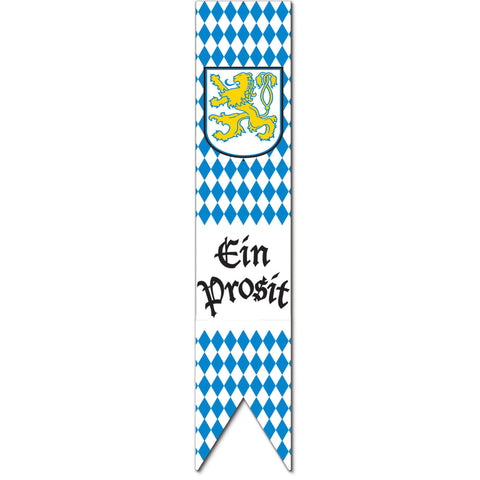 Blue and White Jointed Oktoberfest Pull-Down Cutout 6'