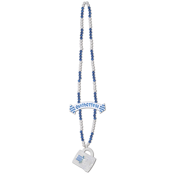 Oktoberfest Beads and Mug with Banner Bead, 39-Inch