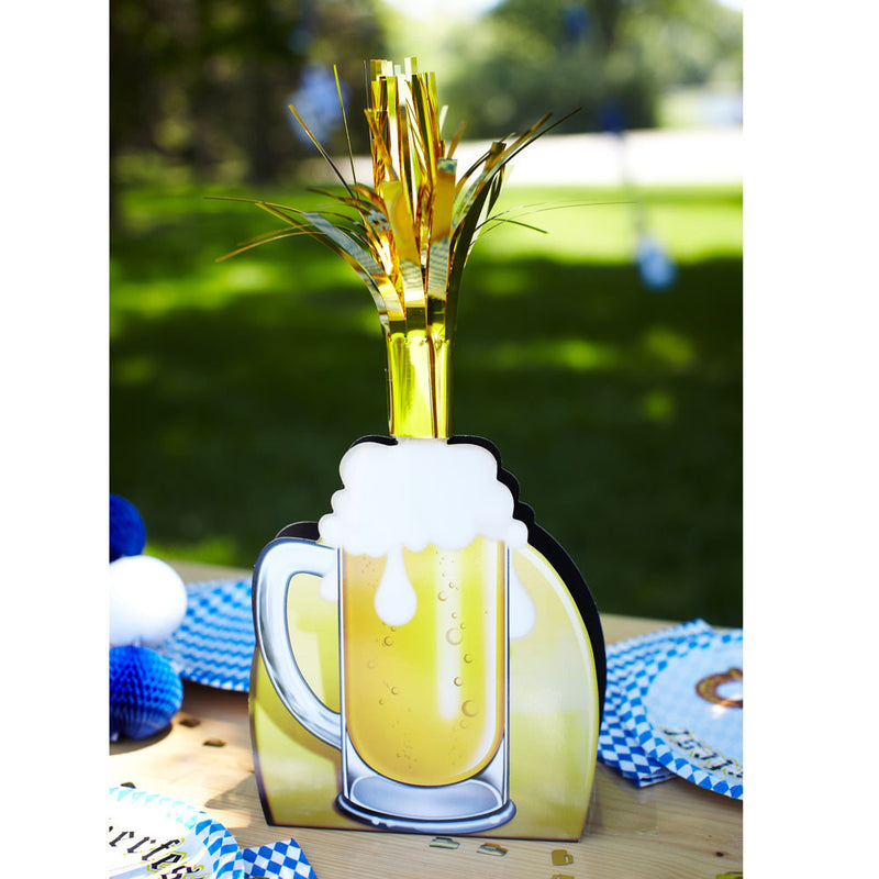 15 Inch Oktoberfest Party Beer Mug Centerpiece - Below $10, Multi-Color, Oktoberfest, PS- Oktoberfest Decorations, PS- Oktoberfest Essentials-All OKT Items, PS- Oktoberfest Table Decor, Tableware, Top-OFST-B - 2 - 3