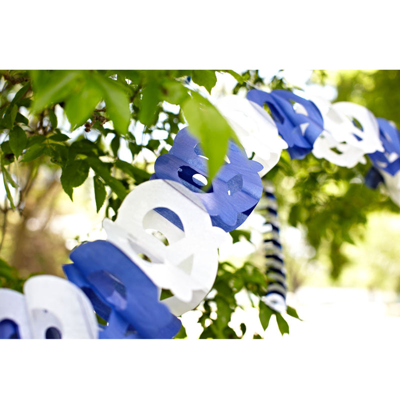 Pretzel Garland Oktoberfest Party Accessory - Below $10, Blue/White, Hanging Decorations, Oktoberfest, Paper, PS- Oktoberfest Decorations, PS- Oktoberfest Essentials-All OKT Items, PS- Oktoberfest Hanging Decor, PS- Oktoberfest Table Decor, Tableware - 2 - 3 - 4 - 5